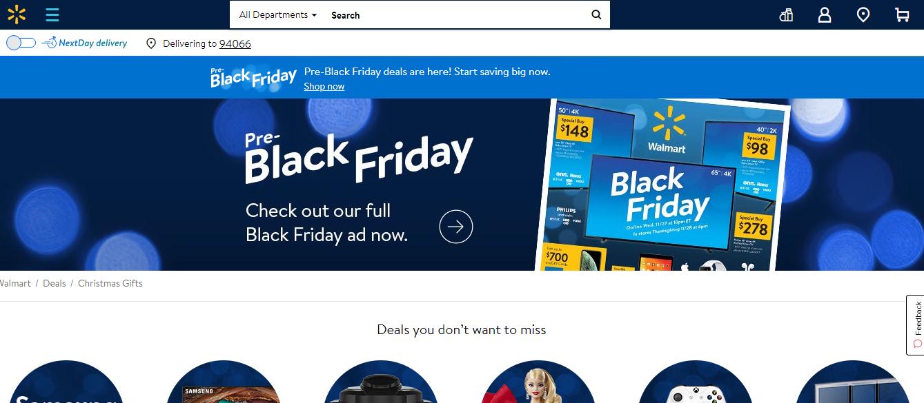 Walmart Black Friday 2019 Thương mại điện tử
