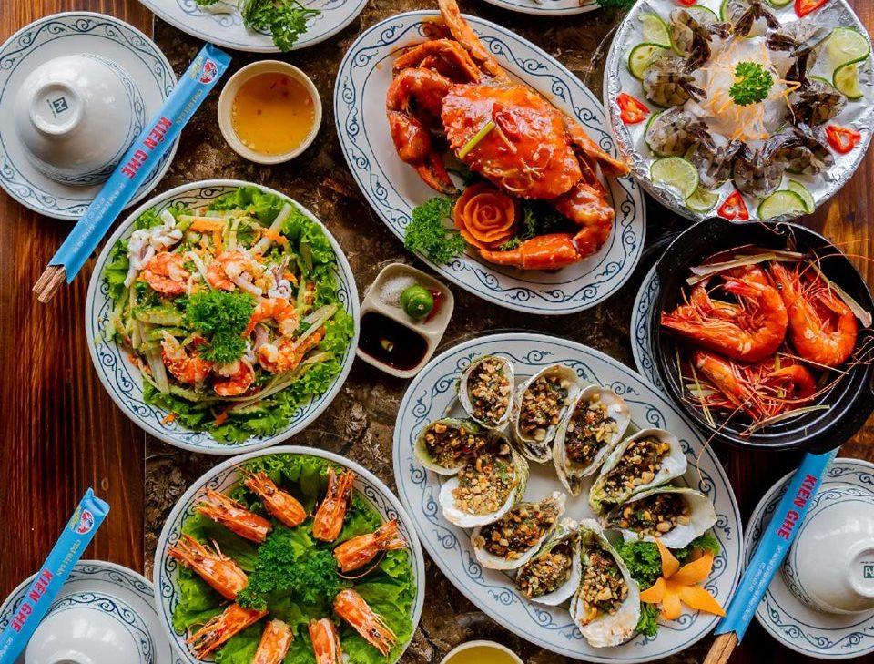 menu Chợ hải sản Kiên Ghẹ