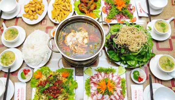 menu Hoa Sơn Quán, nhà hàng quận ba đình