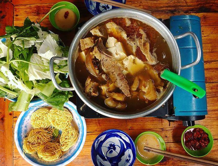 menu Lẩu Bò Quán Gỗ