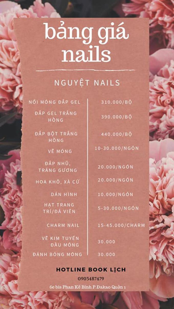 Bảng giá Nguyệt Nails