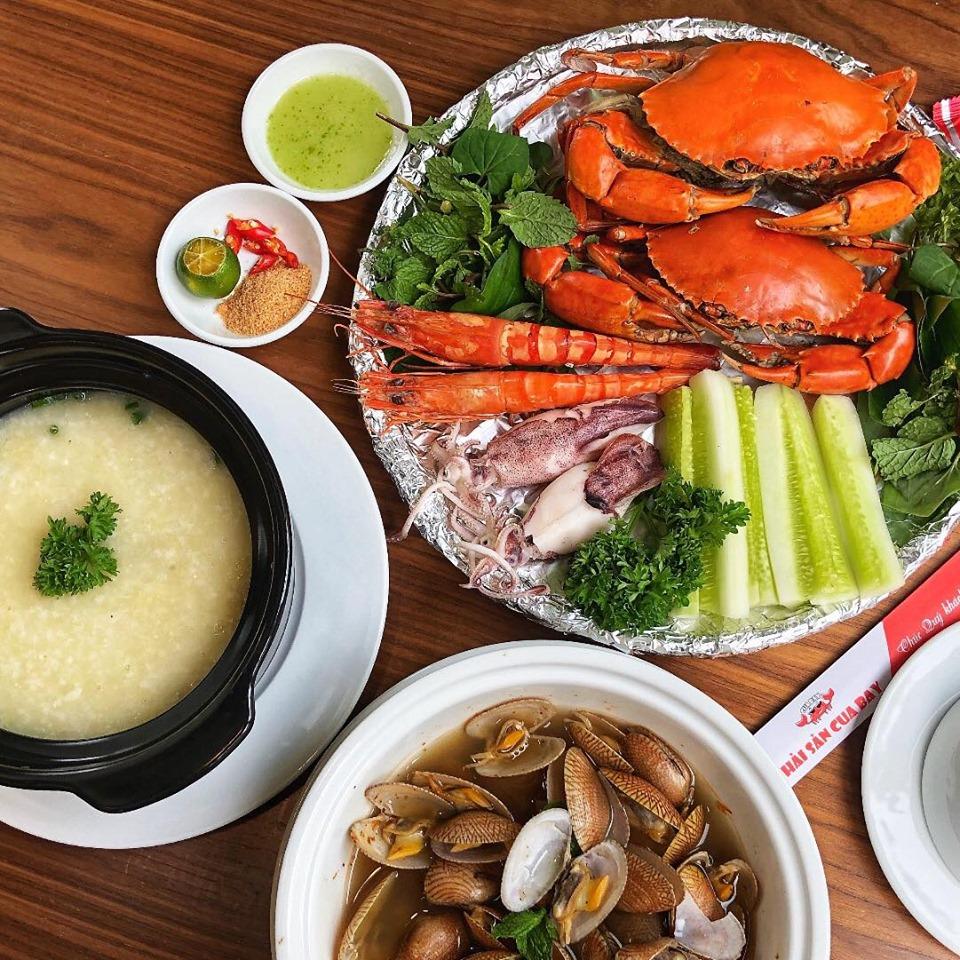 menu Nhà hàng Hải sản Cua Bay