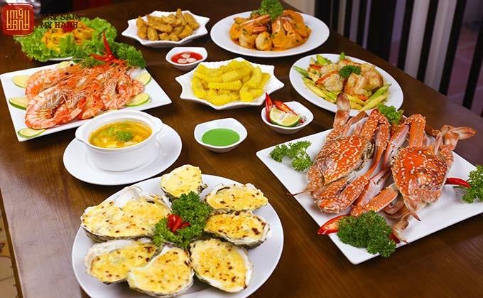 menu Nhà hàng Hải sản Mỹ Hạnh