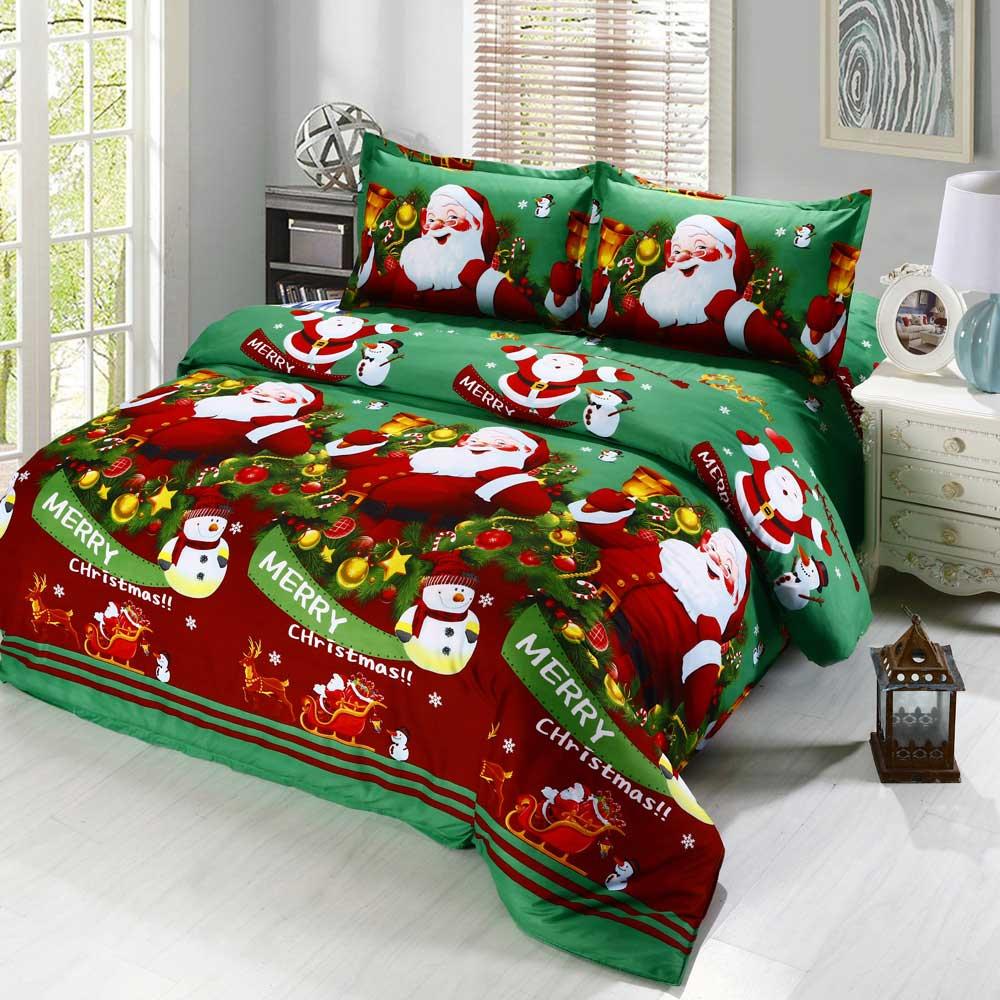 Quà Noel cho bé, Bộ ga giường in hình Noel