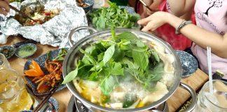 Cách nấu lẩu gà lá é 1