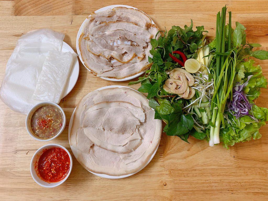 menu Bánh Tráng Thịt Heo