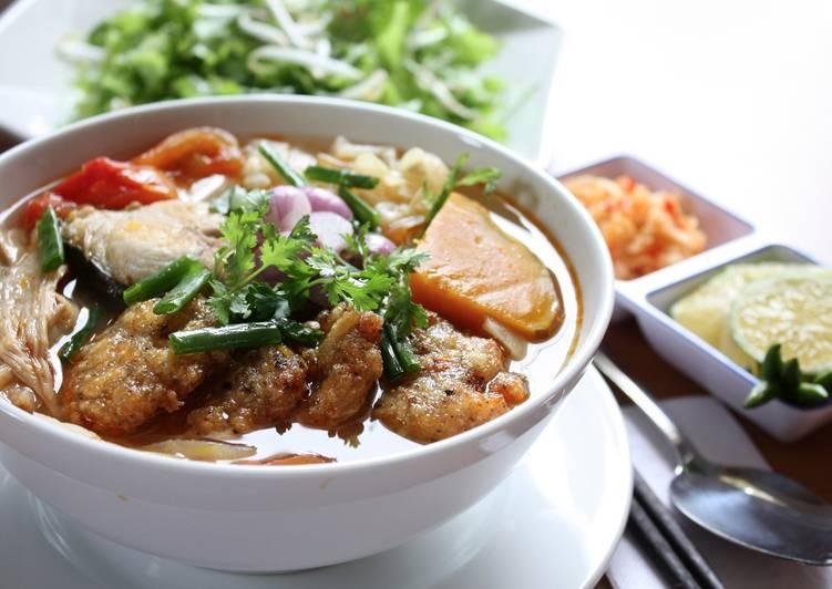 menu Bún chả cá Đà Nẵng